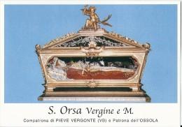 S. ORSA V. E M. - PATRONA DI PIEVE VERGONTE (VB)  -  Mm.80 X 115 - SANTINO MODERNO - Religione & Esoterismo