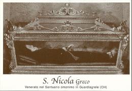 S. NICOLA GRECO - GUARDIAGRELE (CH)  -  Mm.80 X 115 - SANTINO MODERNO - Religione & Esoterismo