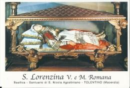 S. LORENZINA V. E  M. ROMANA -  TOLENTINO (MC) -  Mm.80 X 115 - SANTINO MODERNO - Religion &  Esoterik