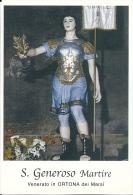 S. GENEROSO M. - ORTONA DEI MARSI  -  Mm.80 X 115 - SANTINO MODERNO - Religione & Esoterismo
