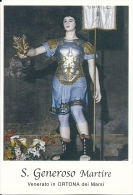 S. GENEROSO M. - ORTONA DEI MARSI  -  Mm.80 X 115 - SANTINO MODERNO - Religion & Esotérisme