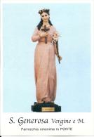 S. GENEROSA V. E M. - PONTE -  Mm.80 X 115 - SANTINO MODERNO - Religione & Esoterismo