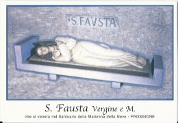 S. FAUSTA V. E M. - FROSINONE  -  Mm.80 X 115 - SANTINO MODERNO - Religione & Esoterismo