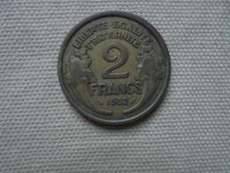 Ancienne pi�ce de 2 francs MORLON 1932
