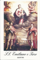 S. EMILIANO E S. TIRSO MM. - Mm.80 X 115 - SANTINO MODERNO - Religione & Esoterismo