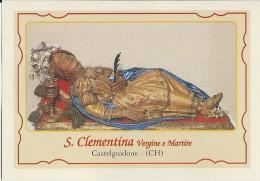 S. CLEMENTINA V. E M. - CASTELGUIDONE (CH) - Mm.80 X 115 - SANTINO MODERNO - Religione & Esoterismo