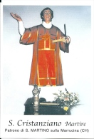 S. CRISTANZIANO M. - PATRONO DI S. MARTINO SULLA MARRUCINA (CH)  - Mm.80 X 115 - SANTINO MODERNO - Religione & Esoterismo