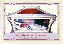 S. AMMONISIA M.  - SCOPA (VC)  -  Mm.80 X 115 - SANTINO MODERNO - Religione & Esoterismo