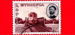 ETIOPIA - Usato - 1965 - Imperatore Haile Selassie - Ferrovia - Locomotive E Ponte - 30 - Etiopia