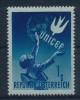 **Österreich Austria 1949 ANK 945 Mi 933 (1) UNICEF School Child MNH - 1945-60 Ungebraucht
