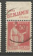 PUB BENJAMINTYPE PAIX N° 283 TYP I OBL - Advertising