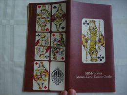 AA1-16 LC118 SBM/Loews Monte-Carlo Casino Guide Slot Machines Roulette Blackcack 21 Craps - Livres, BD, Revues