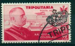 TRIPOLITANIA 1934  ROMA -MOGADISCIO 50 C. POSTA AEREA AIR MAIL ANNULLATO  USED - Tripolitania