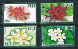 FIJI 2011 -  Fleurs Des Iles Fidji, Frangipani - 4v Neufs // Mnh - Fiji (1970-...)