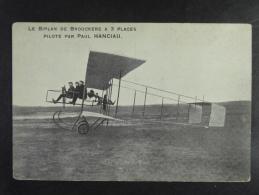 Le Biplan De Brouck�re � 3 places pilot� par Paul Hanciau