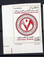 ALG Algérie  - N° 1373 Imperforate Non Dentlé Journée Mondiale Du Don De Sang Médecine Santé Prévention - Medicine