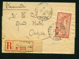 ALGERIE/ORAN:  DEVANT  D ENVELOPPE  AVEC  BELLE OBLITERATION POUR  LE MAROC , C A D  DU  10  NVEMBRE 1919 ? , A   VOIR .