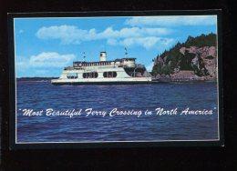 CPM Neuve Etats Unis BURLINGTON Most Beautiful Ferry Crossing In North America - Burlington