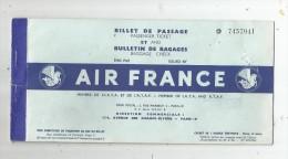 billet de passage , billet d'avion , AIR FRANCE , 1953 , Paris Gen�ve Paris , 2 scans