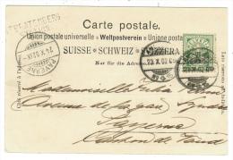 Suisse /Schweiz/Svizzera/Switzerland /Carte Pour Payerne Avec Cachet Linéaire ST.BEATENBERG STATION - Storia Postale