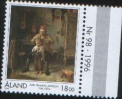 Aland 1996  Painting 15O° Anniv. Birth Finnish Aland Painter Karl  Emanuel Jansson 1v Complete Set ** MNH - Aland