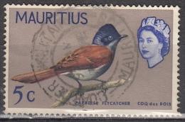 Mauritius, 1965 - 5c Mauritius Paradise Flycatcher - Nr.279 Usato° - Mauritius (1968-...)