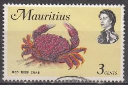 Mauritius, 1969 - 3c Red Reef Crab - Nr.340 Usato° - Mauritius (1968-...)