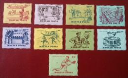 HONGRIE - YT  N°1734 à 1742 - Histoire Du Tennis / Sports - 1965 - Neufs - Ungheria