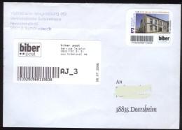 Biber Post Brief Absenderstempel  Volksbank Schönebeck 0,42  (16.7.2008) Glatt Kurzer UPOC Bpb401d - [7] République Fédérale