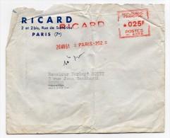 EMA Ricard 1961 Paris 202 - Marcofilia (sobres)