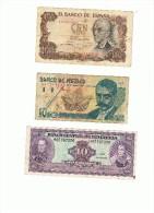 ESPAÑA MEXICO VENEZUELA VARIOS VALORES - Billetes