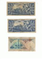 CUBA 20 PESOS TURQUIA 500 LIRAS - Billetes