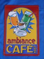 """Plaque Métal """"AMBIANCE CAFE 1997"""" - Plaques En Tôle (après 1960)"""