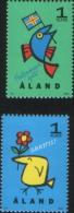 Aland 1996  Francobolli Con Messaggi E Saluti 2v Complete Set ** MNH - Aland
