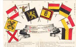 Postkaart, Carte Postale, België, Belgien Door De Tijden, La Belgique A Travers Les Ages, Reliëfkaart (pk18196) - Andere