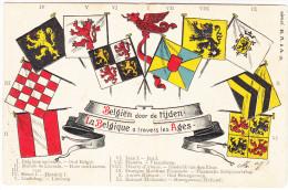 Postkaart, Carte Postale, België, Belgien Door De Tijden, La Belgique A Travers Les Ages (pk18197) - Andere