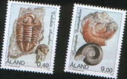 Aland 1996  Fossils - Fossili 2v Complete Set ** MNH - Aland