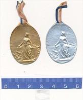 2 Insignes, Médailles Métal - Journée Serbe 1916 - 1914-18
