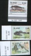 Aland 1997  Fauna  Animali In Via Estinzione 3v Complete Set ** MNH - Aland