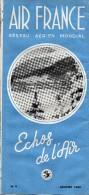 AIR  FRANCE  -  Réseau Aérien Mondial  -    Echos De L'Air  -  Bulletin Mensuel  N° 9  -  Janvier 1948 - Vluchtmagazines