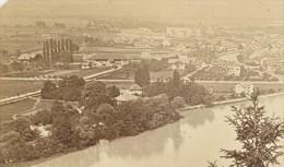 Thoune Panorama Alpes Bernoises Suisse Ancienne Photo Carte De Visite 1870 - Photographs