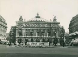 Place De L'Opera Garnier Paris France Ancienne Photographie 1965 - Unclassified