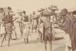 Niger Niamey Scene De Marché Commercants Ancienne Photo Instantanée 1929 - Africa