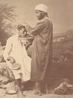 Barbier Arabe Tunisie Ancienne Photo Fiorillo 1880 - Africa