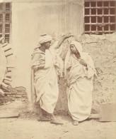 Egypte Le Caire Fellah Et Sa Femme Ancienne Photo 1880 - Africa