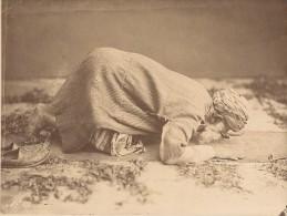 Egypte Le Caire Vieux Musulman En Prière Ancienne Photo 1880