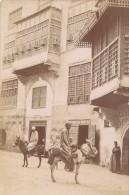 Egypte Le Caire Maison Arabe & Muletiers Ancienne Photo Zangaki 1880