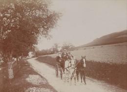 Cheval Atellage Aix Les Bains Scene Vie Quotidienne Ancienne Photographie Instantanée Amateur 1900 - Photographs