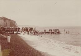 Dieppe Baignade Scene Vie Quotidienne Ancienne Photographie Instantanée Amateur 1900 - Photographs