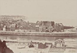 Dieppe Chenal Scene Vie Quotidienne Ancienne Photographie Instantanée Amateur 1900 - Photographs